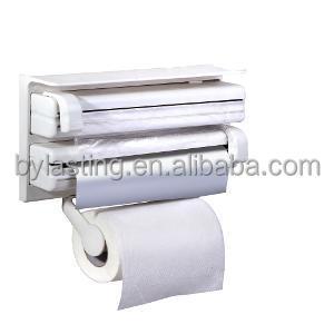 triple distributeur de papier pour cuisine rouleau aluminium feuille et cling film wraptissue. Black Bedroom Furniture Sets. Home Design Ideas