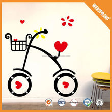 China supplier reusable adornment epoxy resin wall stickers