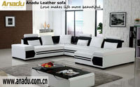 luxury exclusive sofas home furniture wooden frame leather sofa u shape sofa