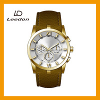 Factory directly hot selling luxury water resistant leather stainless steel men quartz wrist stainless steel watches
