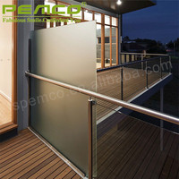 100% Raw Material Good Price Balcony Stainless Steel Railing Design