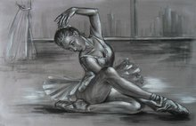 Ballet girl Dancing oil Painting