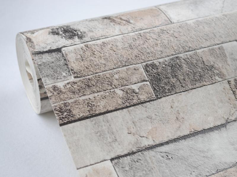 Vinile muro di mattoni carta da parati falso carte da parati ...