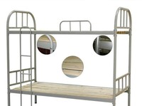 iron pipe frame double bunk bed design