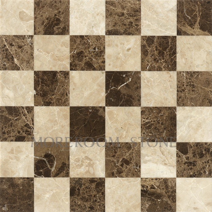 Inlaid Marble Floor Design : Chinese stone polished laminated marble cappucino