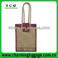 2013 Newest jute wine bag,bottle jute wine tote bag