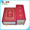 presentation folder leather bound printing/ cloth bound book printing