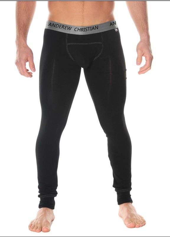 AC модели теплые зимние мужчины тонкие брюки / леггинсы / модальные Мужские брюки