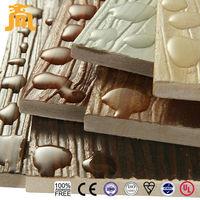 Outstanding Fireproof and Waterproof Wood Grain Decorative Wall Panel