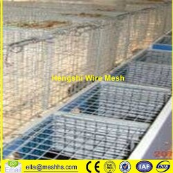 Mink Farm Cage Steel Crab Cage White Wire Bird Cages