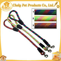 Cheap Chew Proof Soft Handle Braided Rope Dog Leash For Running High Level Pet Collars & Leashes