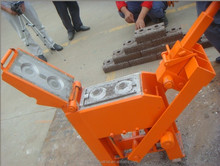 High quality lego ES1-10 clay brick making machine manual interlock mud