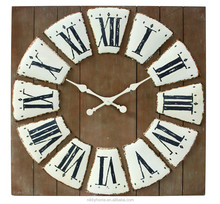 Wood Round Home decoration Antique Style Clock