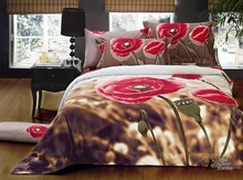 EFFECT PHOTO PRINT 3D LOVELY ROSES 100% COTTON BEDDING DUVET SET