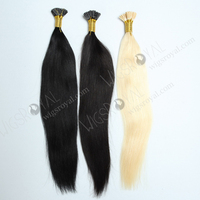 Best quality 18'' Chinese virgin color as pics i tip hair extensions wholesale