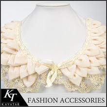 Latest amazing ladies suit neck design lace