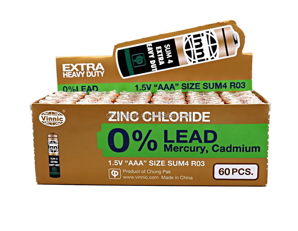 0% Lead Zinc Chloride Dry Battery