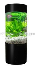 cylinder shape acrylic fish tank/plexiglass aquarium stand