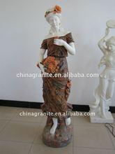 mujer estatuas de mármol de color de mármol