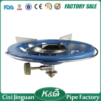 China Made Super Blue Flame Mini Portable Cast Iron BBQ Stove Mini Camping Gas Stove Single Burner LPG Gas Camping Gas Stove