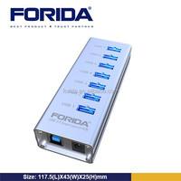 FORIDA Aluminum series 7- port USB3.0 Hub