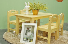 hot sale wooden childrens table and chairs