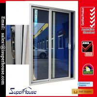 China factory thermal break tempered double glazed sliding door kit
