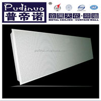 Aluminum perforated insulated ceiling tiles