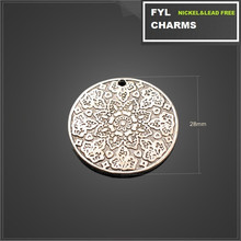 YP29835s parts alloy plating ancient silver pendant sounded wafer pattern pendant alloy jewelry