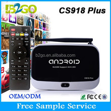 Top Selling CS918 Plus android tv box full hd media player 1080p RK3288 ram 2g rom 8g HD BT 4.0 remote control Smart Tv Box