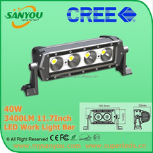2015 Hot New Products Off Road LED Light Bars Wholesale! 40W C ree 12V 24V 4X4 Accessories Auto LED Work Light Bar for Trucks