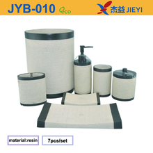 2014 hot sale classic polystone bathroom set,bathroom accessory set