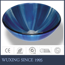 Blue colored high reputation round shape new style basin washing hair for bathroom
