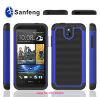 Baseball sports tuff hybrid protector cover case for HTC desire 610