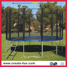 CreateFun outdoor large round commercial kids trampoline with ladder accessories