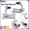 BJ-RM400-04 Universal Chrome Billet Aluminum Handle Bar End Motorcycle Rearview Mirror for Honda CBR250 300