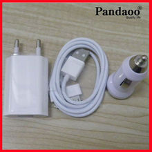 Mobile phone 5v 1a usb 3 in 1 charger for iphone samsung