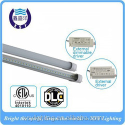 1 driver for 2 tube cETL DLC 100lm/w 18w*2 led tube light with external driver