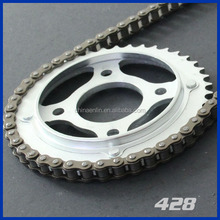 four rivetted motorcycle chains 428