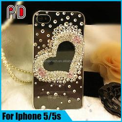 Shiny diamond Case For Iphone 5 5s, luxury water diamond phone case for iphone5 5s