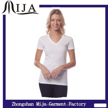 2015 top quality 95% cotton 5% spandex blank ladies new design t shirt