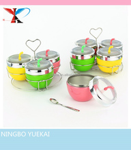 Apple shape stainless steel seasoning can,apple can,stainless steel color apple shape spice can