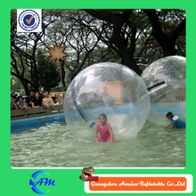 clear color and funny water ball cheap,human water bubble ball,crystal ball water fountain