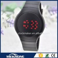 wholesale custom round face led screen cheap digital waterproof kid watch