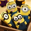 Lovely 3D Cute Cartoon Soft Silicone Minions Back Cover Case For iphone 5 5s 5c iphone5,100pcs/lot,Free shipping