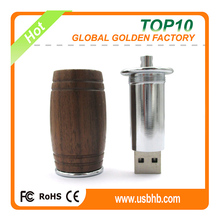 Round wood case usb stick 8gb/16gb/32gb with high speed in shenzhen