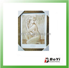 2014 Classical Handmade Nude Women Oil Painting, Black and White Oil Painting on Canvas