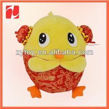 Adorable plush yellow chicken toys in China shenzhen OEM
