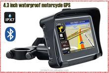 Motorcycle GPS navigator! 4.3'' waterproof!128M DDR+8gb nand flash+BT+free map of Whloe Europe countries