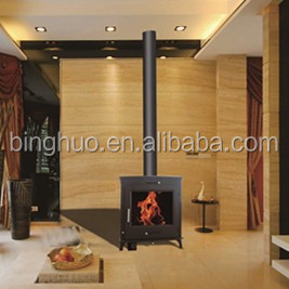 heating system boiler stove, wood burning stove with water jacket